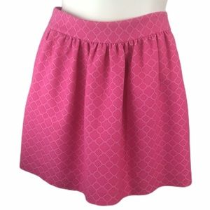 Crown & Ivy Sz 12 Pink Eyelet Skirt with Pockets